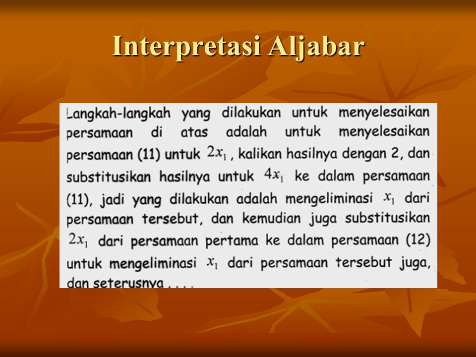 Interpretasi Aljabar