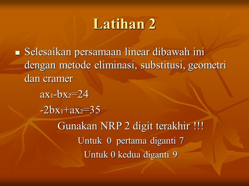 Gunakan NRP 2 digit terakhir !!!