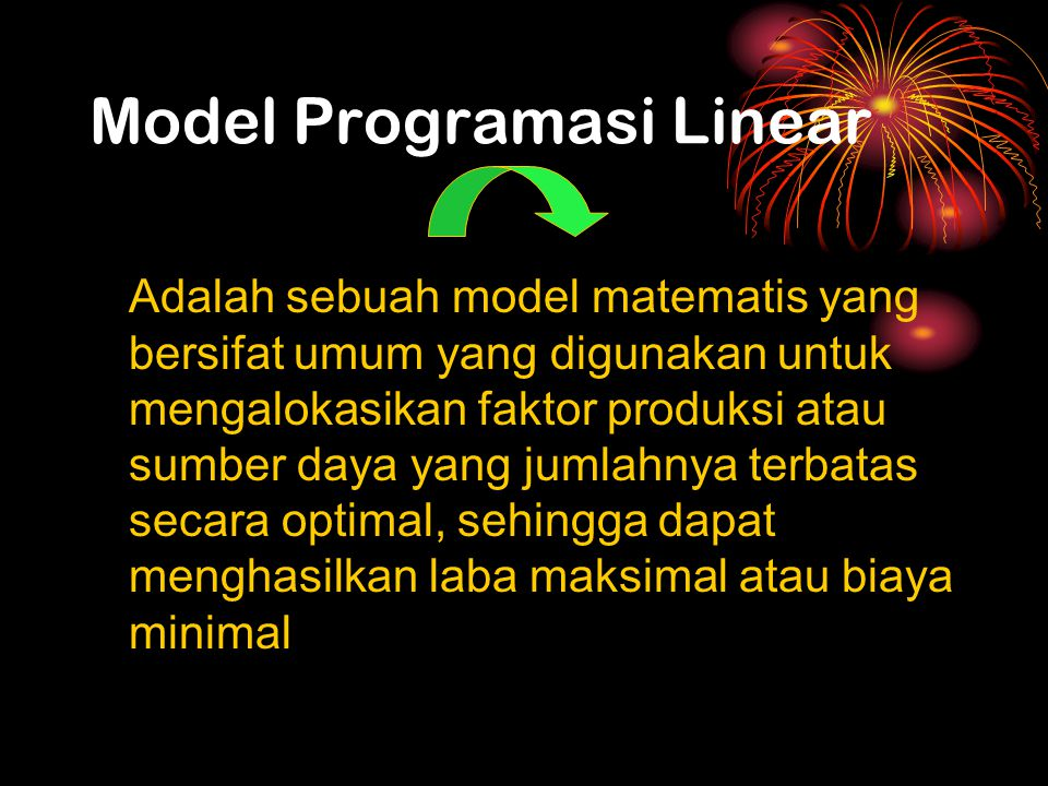 Model Programasi Linear