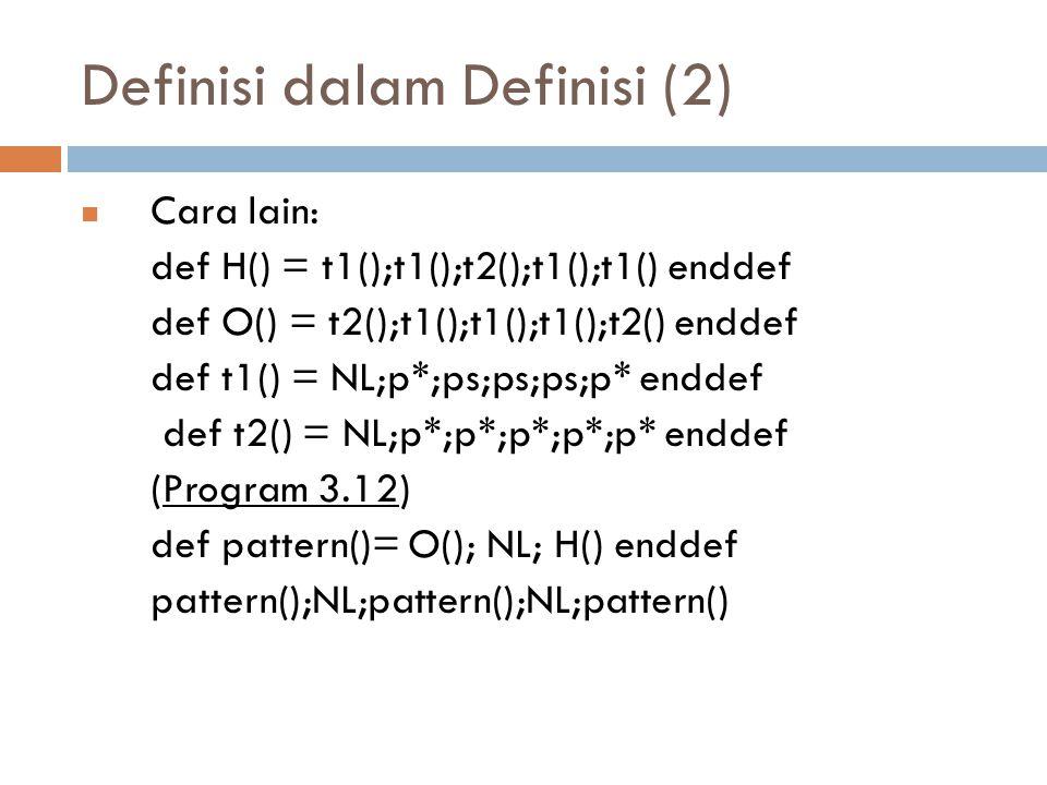 Definisi dalam Definisi (2)