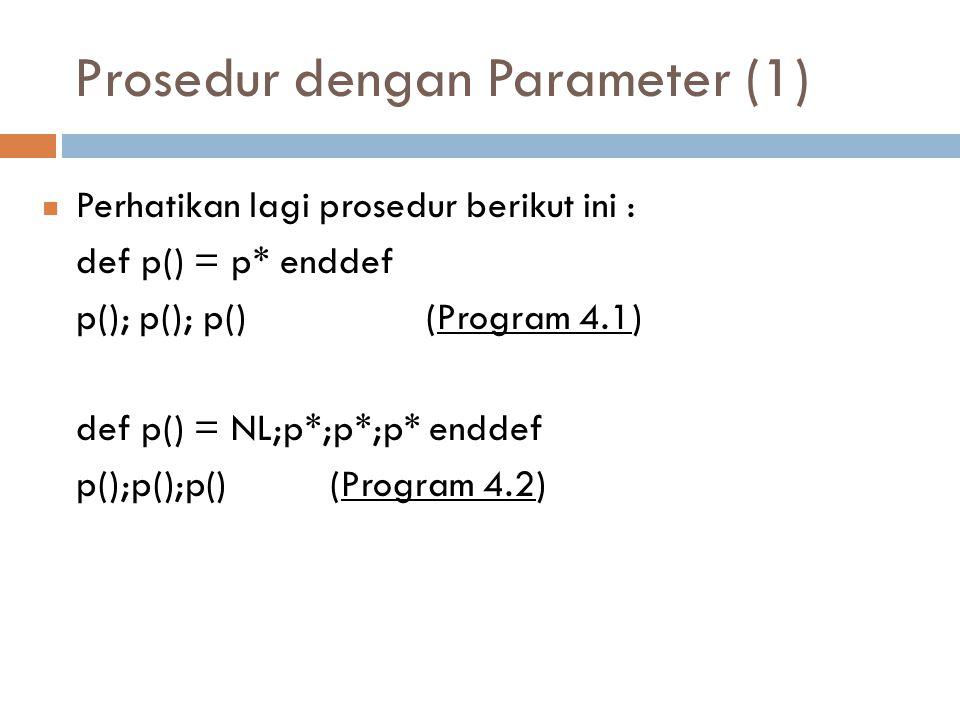 Prosedur dengan Parameter (1)