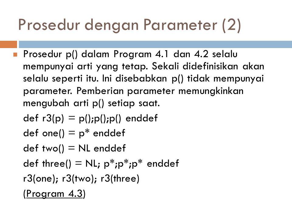 Prosedur dengan Parameter (2)
