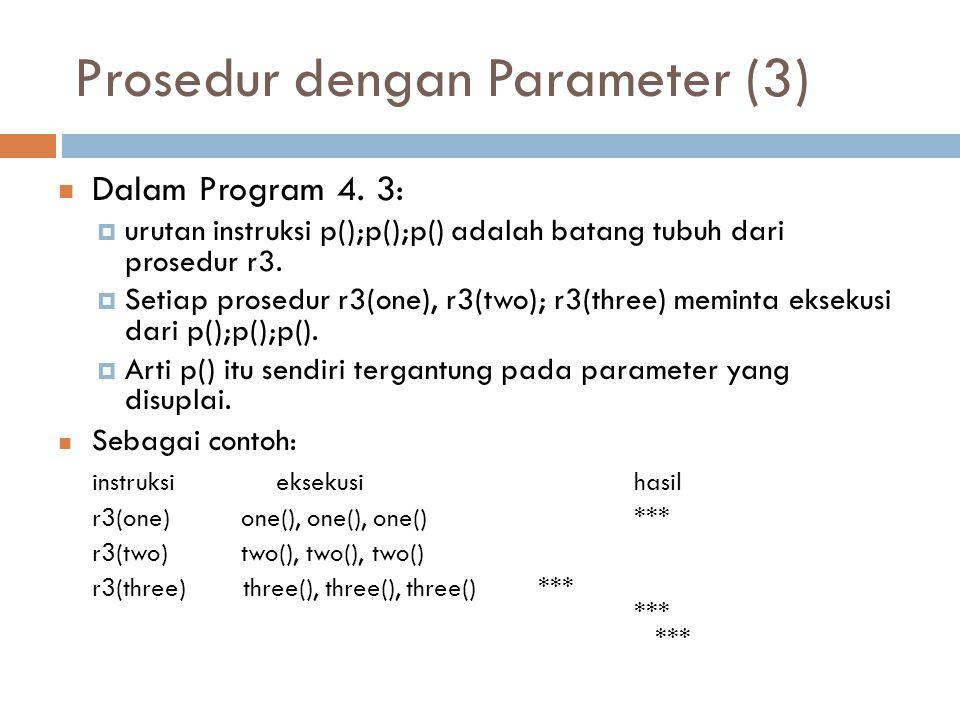 Prosedur dengan Parameter (3)