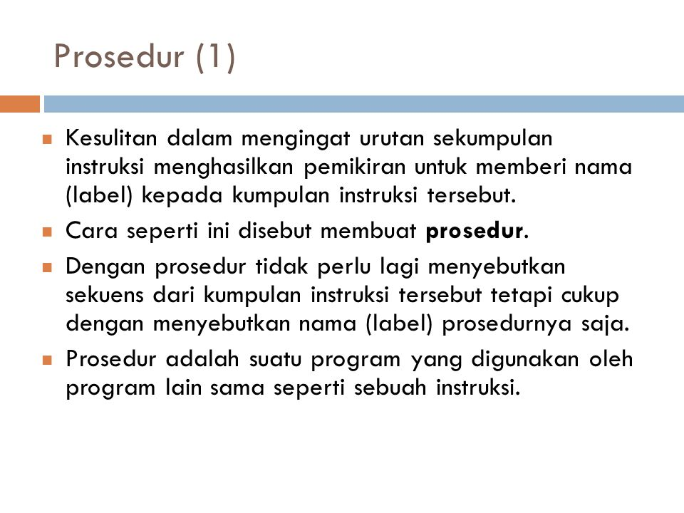 Prosedur (1)