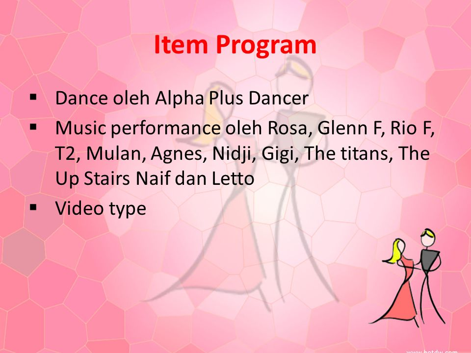 Item Program Dance oleh Alpha Plus Dancer