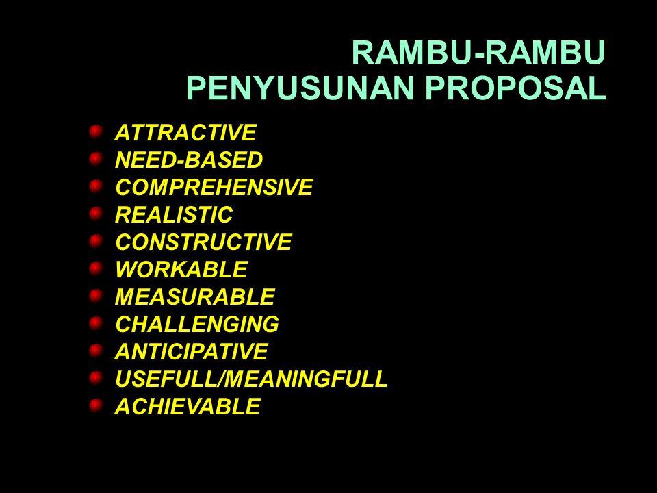 RAMBU-RAMBU PENYUSUNAN PROPOSAL