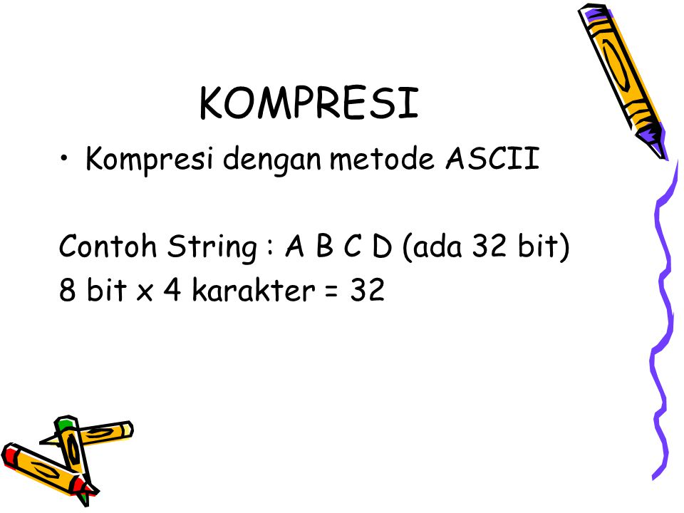 KOMPRESI Kompresi dengan metode ASCII