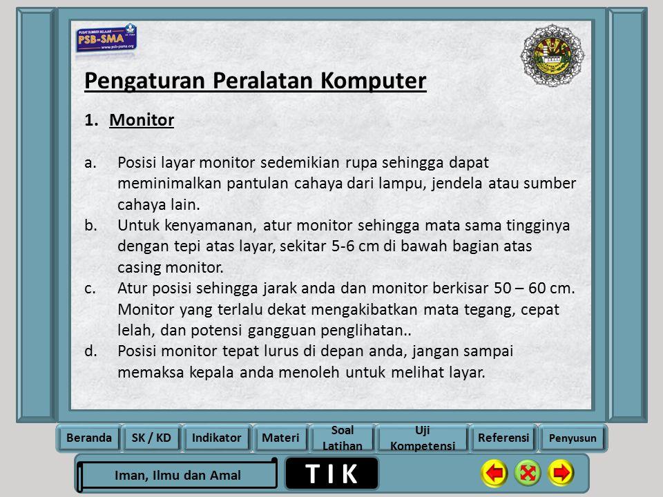 Pengaturan Peralatan Komputer
