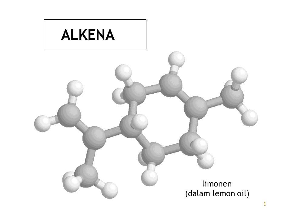 ALKENA limonen (dalam lemon oil)