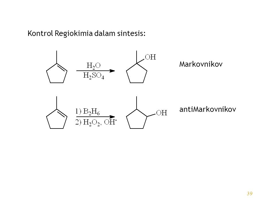 Kontrol Regiokimia dalam sintesis: