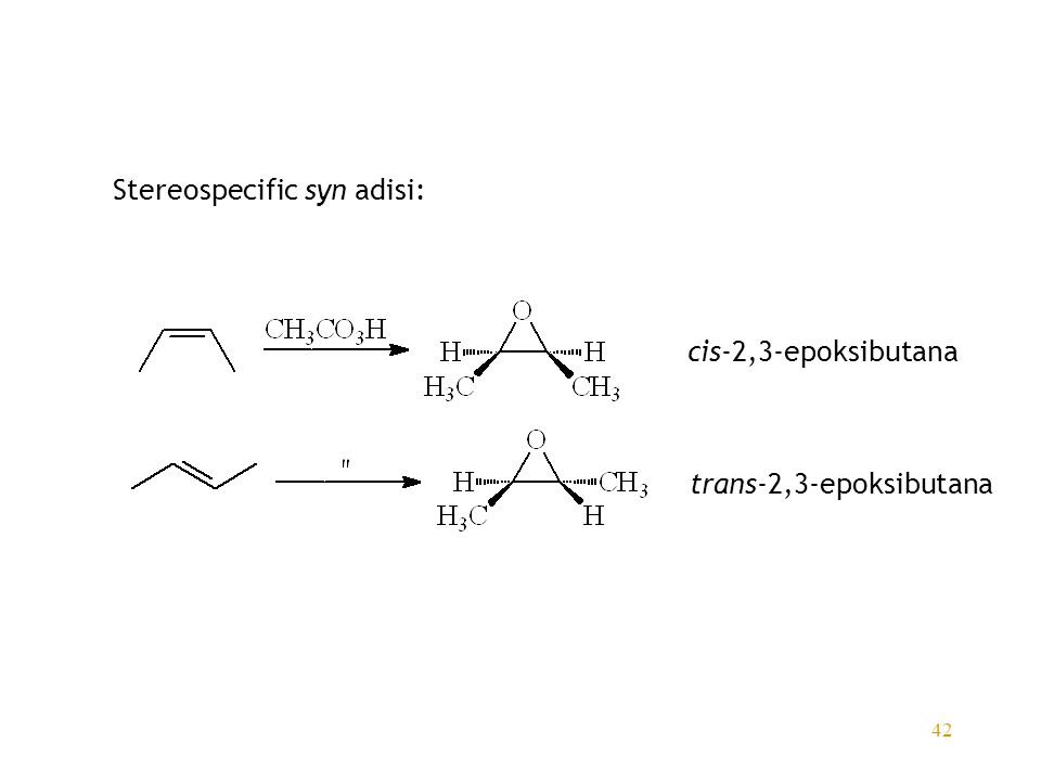 Stereospecific syn adisi: