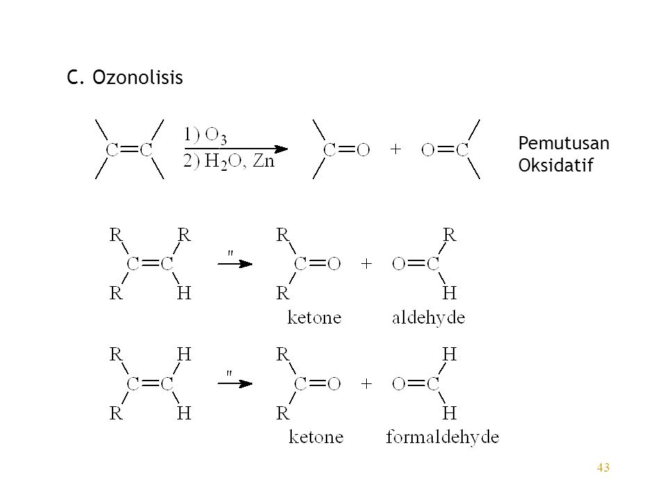 C. Ozonolisis Pemutusan Oksidatif