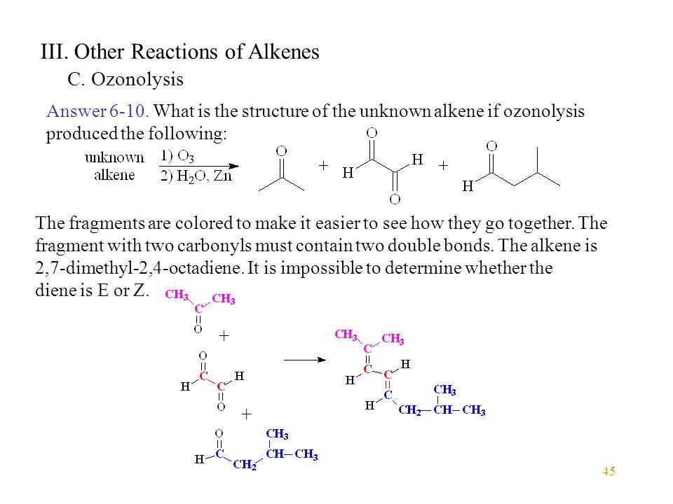 III. Other Reactions of Alkenes