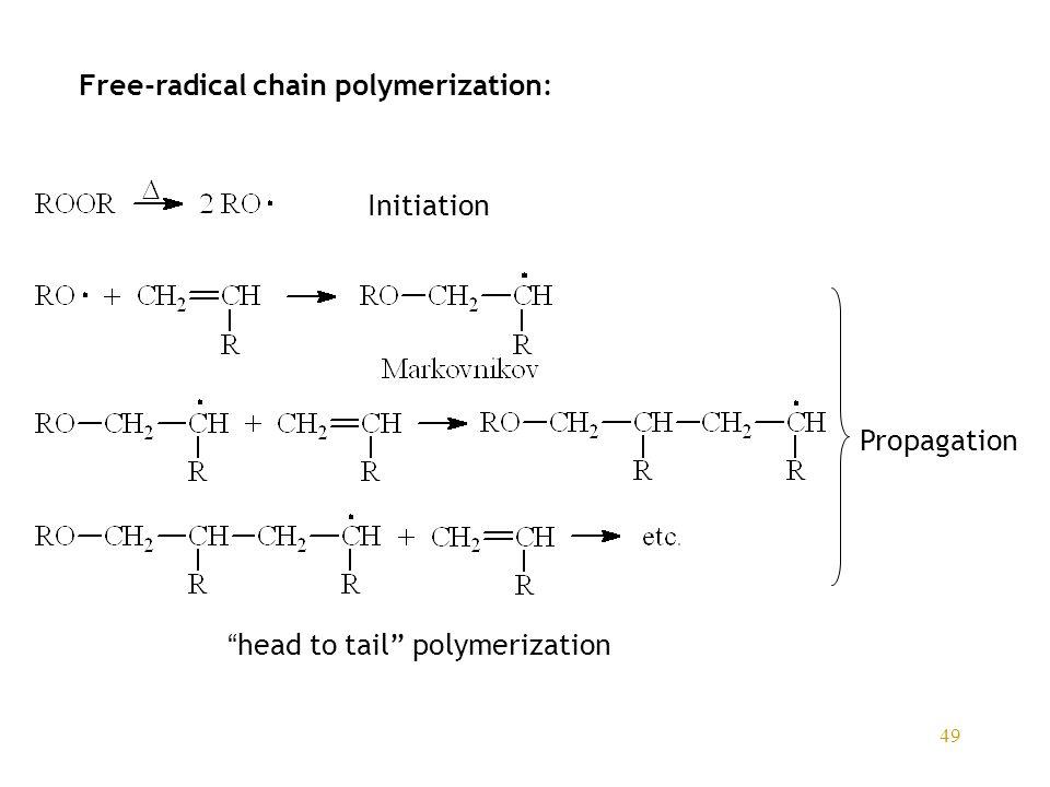 Free-radical chain polymerization: