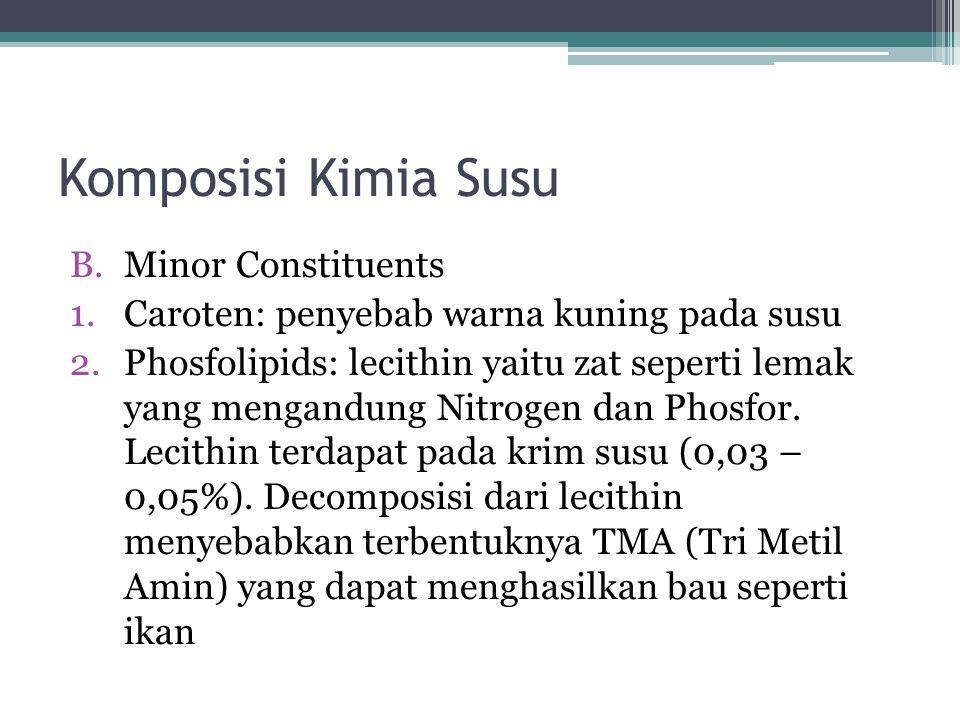Komposisi Kimia Susu Minor Constituents
