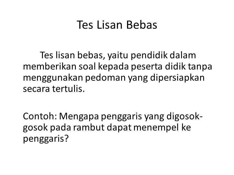 Tes Lisan Bebas