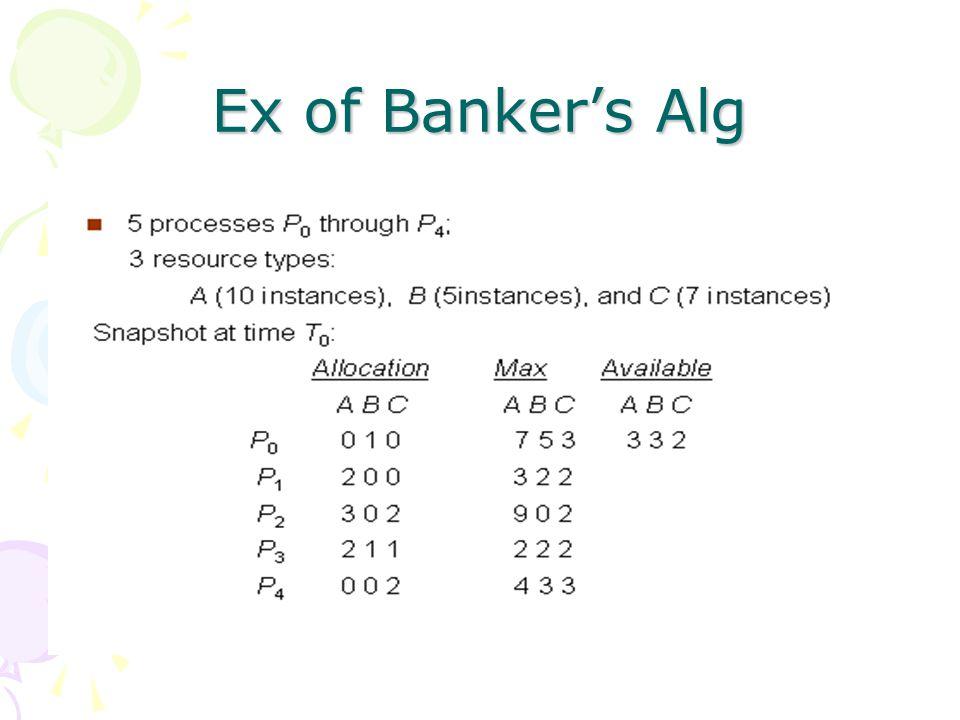 Ex of Banker's Alg