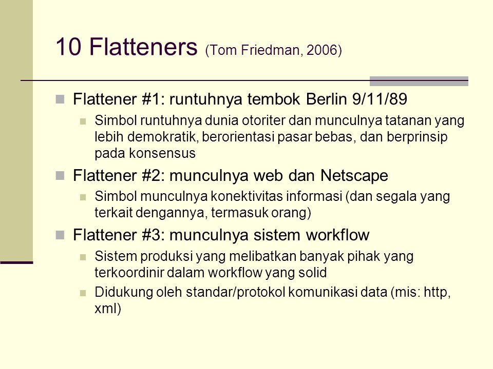 10 Flatteners (Tom Friedman, 2006)