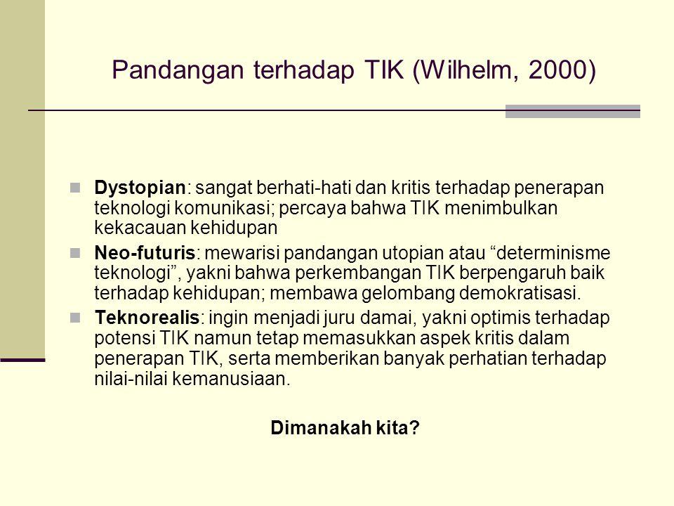 Pandangan terhadap TIK (Wilhelm, 2000)