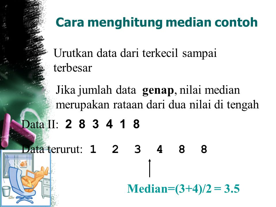 Cara menghitung median contoh