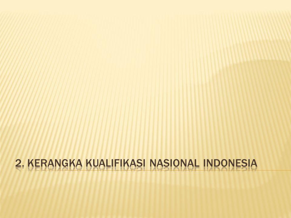 2. Kerangka Kualifikasi Nasional Indonesia