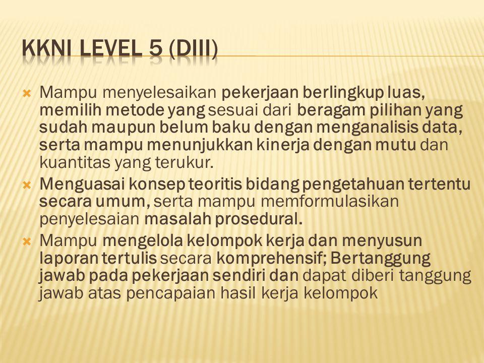 KKNI LEVEL 5 (diii)