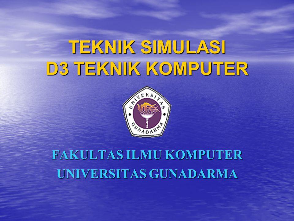 TEKNIK SIMULASI D3 TEKNIK KOMPUTER