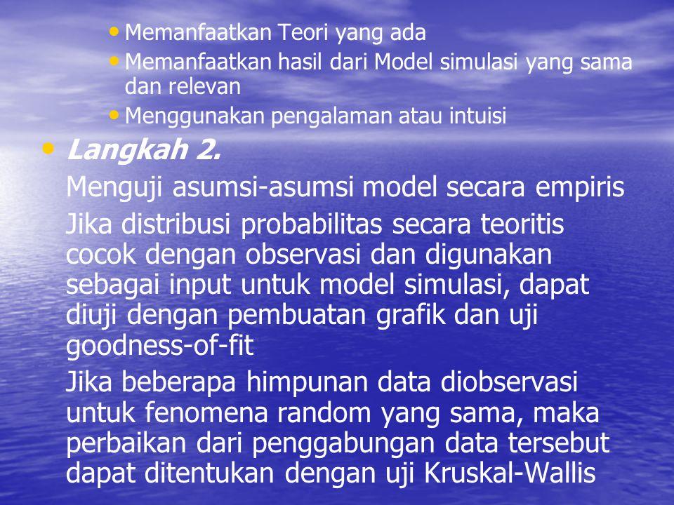 Menguji asumsi-asumsi model secara empiris