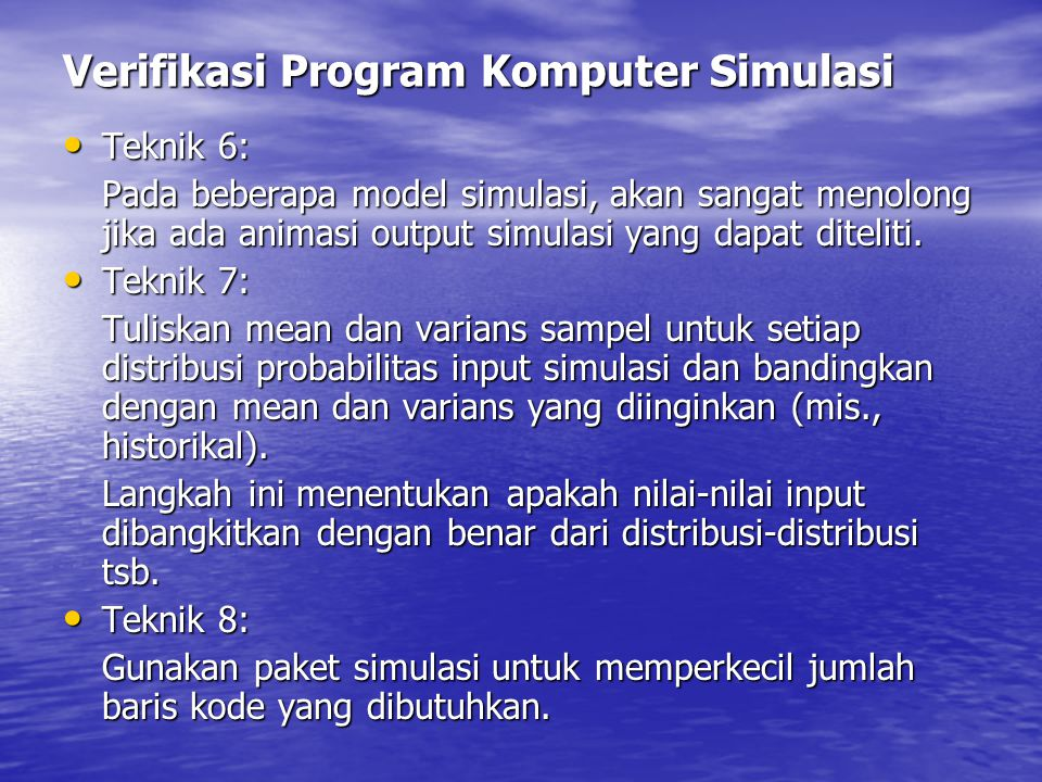 Verifikasi Program Komputer Simulasi