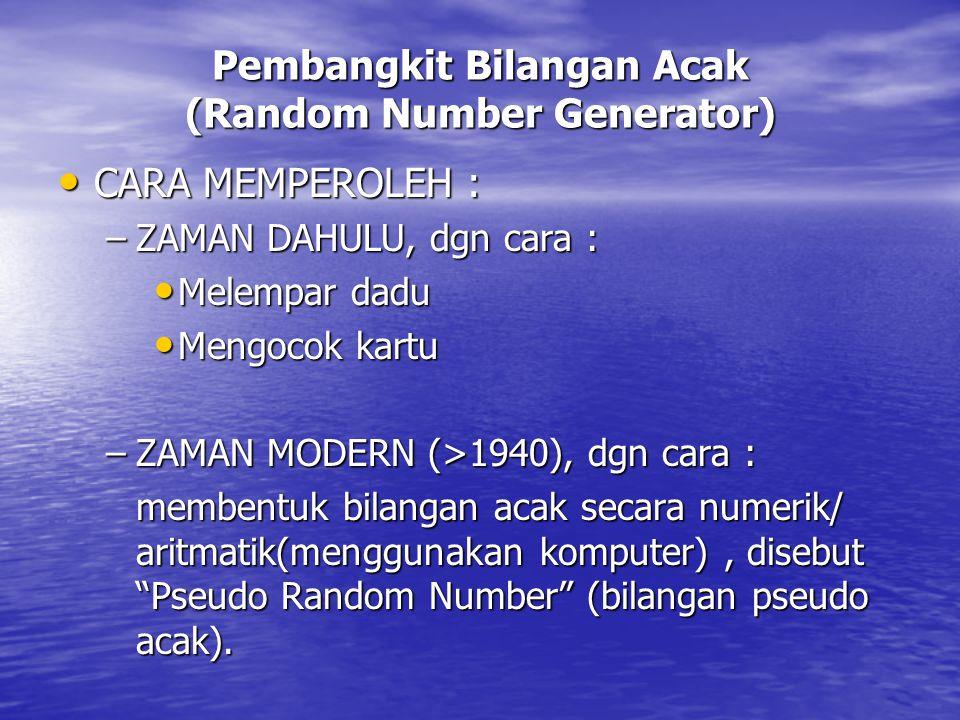 Pembangkit Bilangan Acak (Random Number Generator)