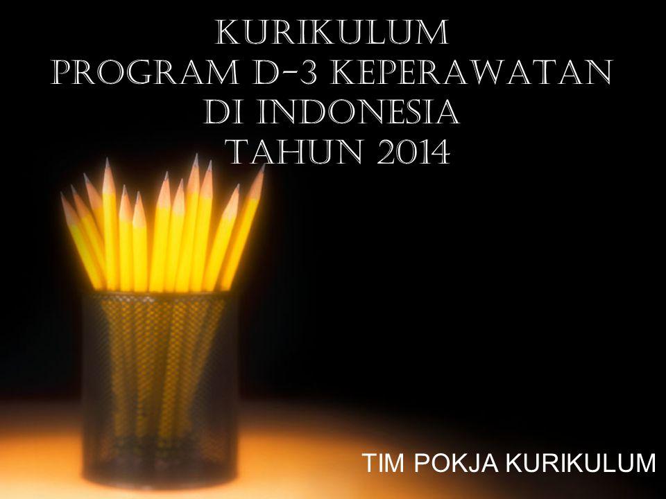 KURIKULUM PROGRAM D-3 KEPERAWATAN DI INDONESIA TAHUN 2014