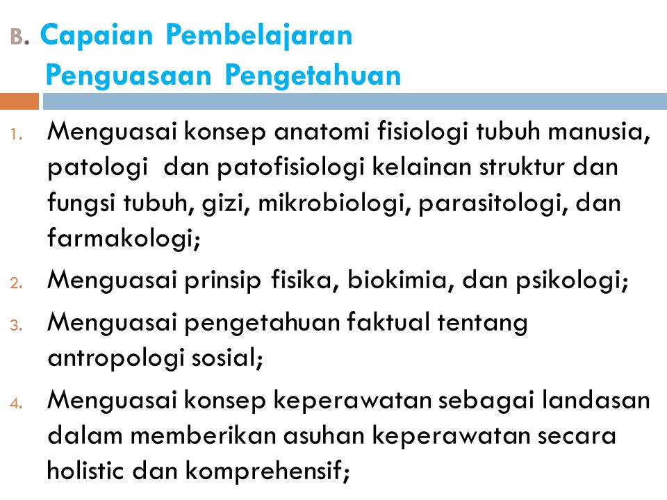 B. Capaian Pembelajaran Penguasaan Pengetahuan
