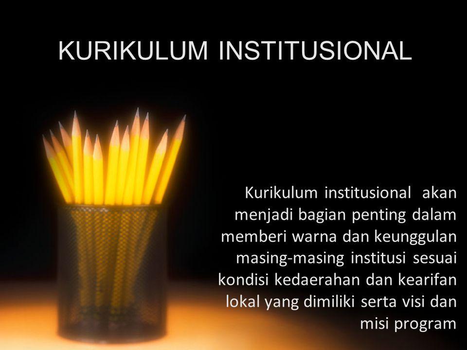 KURIKULUM INSTITUSIONAL