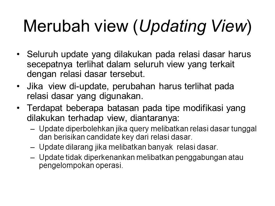 Merubah view (Updating View)