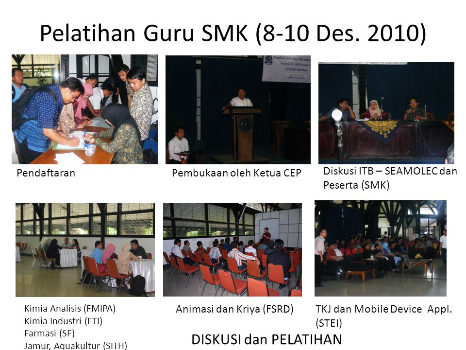 Pelatihan Guru SMK (8-10 Des. 2010)