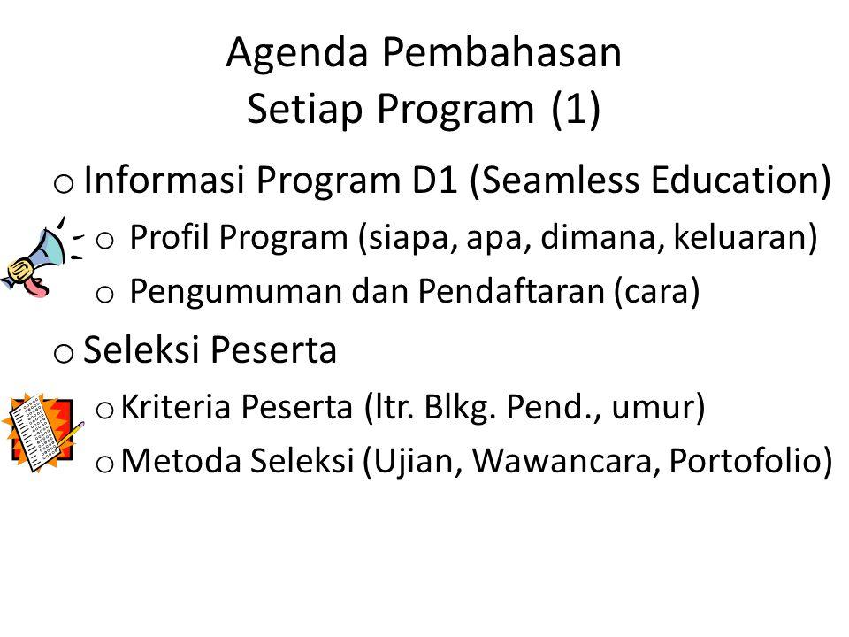 Agenda Pembahasan Setiap Program (1)