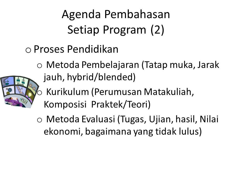 Agenda Pembahasan Setiap Program (2)