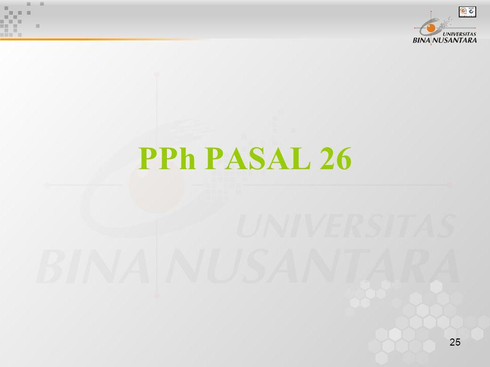 PPh PASAL 26