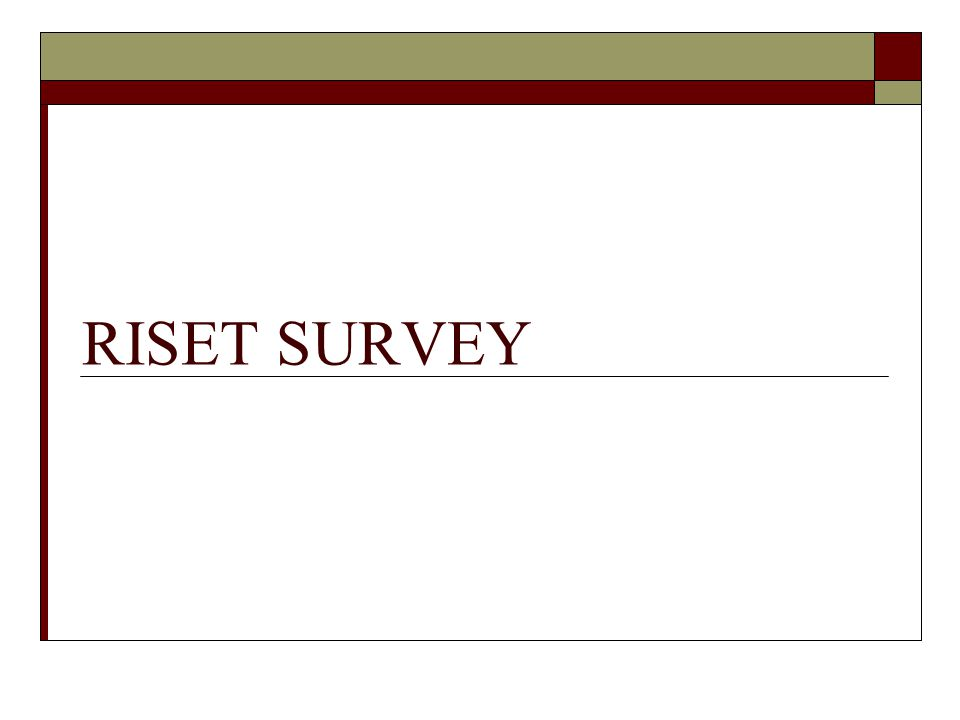 RISET SURVEY