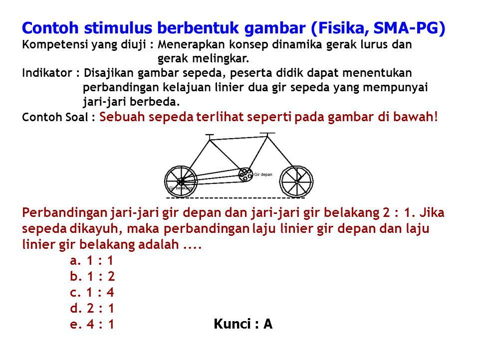 Contoh stimulus berbentuk gambar (Fisika, SMA-PG)
