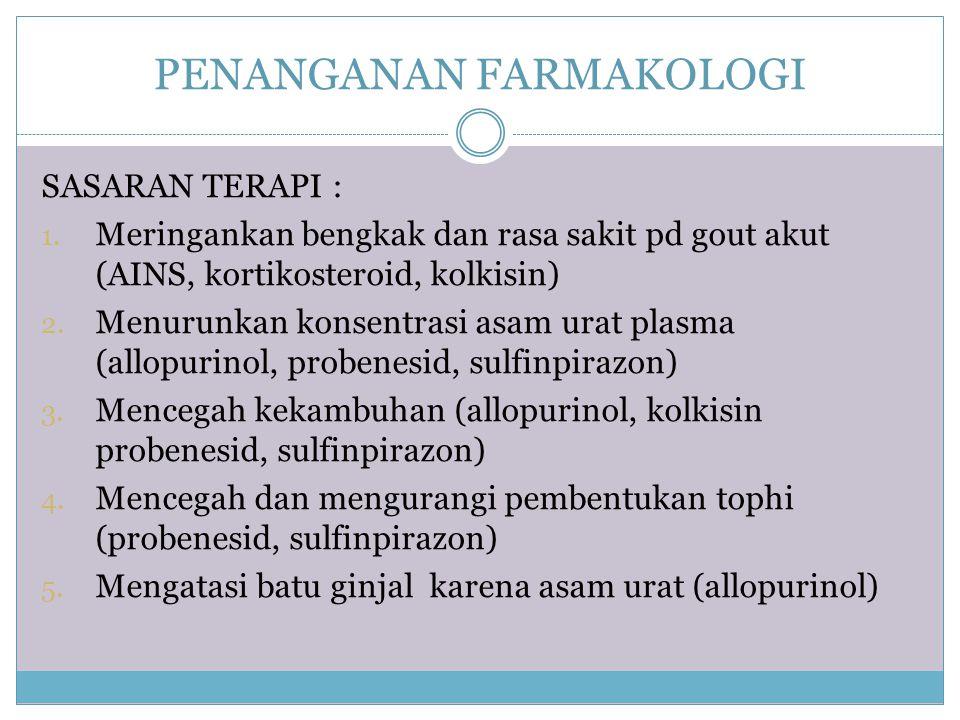 PENANGANAN FARMAKOLOGI