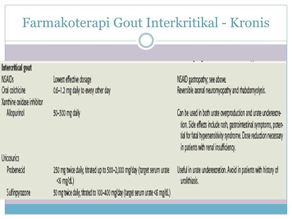 Farmakoterapi Gout Interkritikal - Kronis
