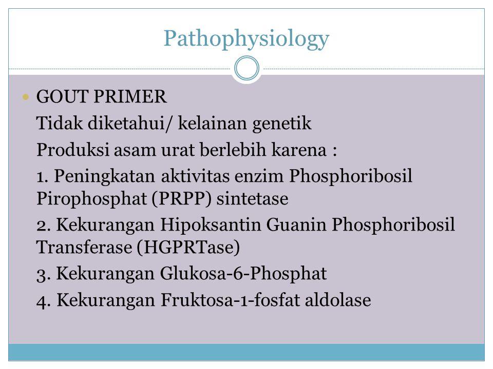 Pathophysiology GOUT PRIMER Tidak diketahui/ kelainan genetik
