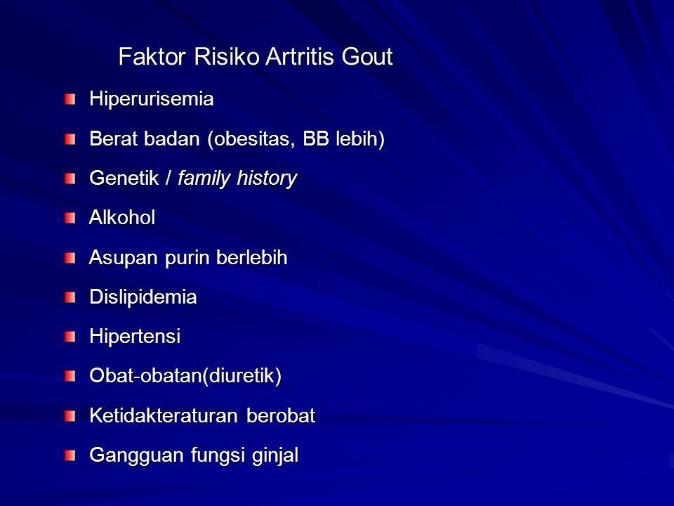 Faktor Risiko Artritis Gout