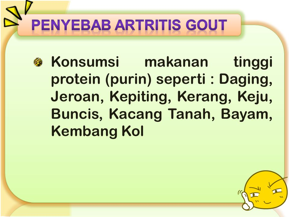 Penyebab ARTRITIS GOUT