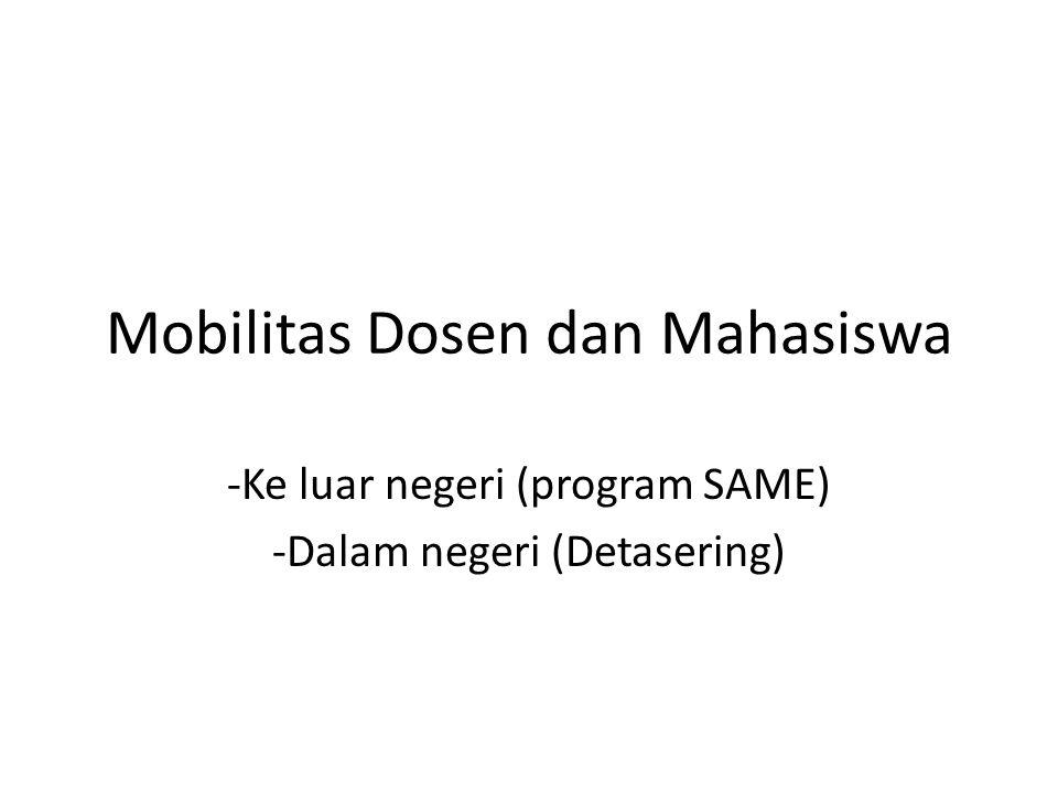 Mobilitas Dosen dan Mahasiswa