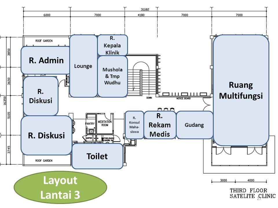 Layout Lantai 3 R. Admin Ruang Multifungsi R. Diskusi Toilet
