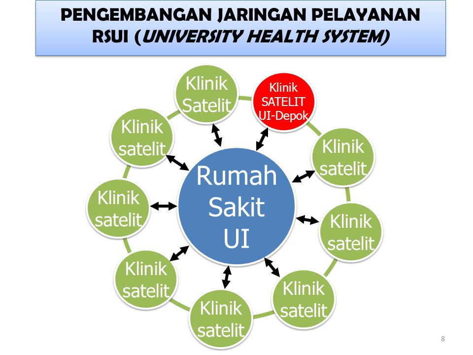 PENGEMBANGAN JARINGAN PELAYANAN RSUI (UNIVERSITY HEALTH SYSTEM)