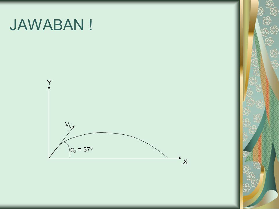JAWABAN ! Y V0 α0 = 370 X