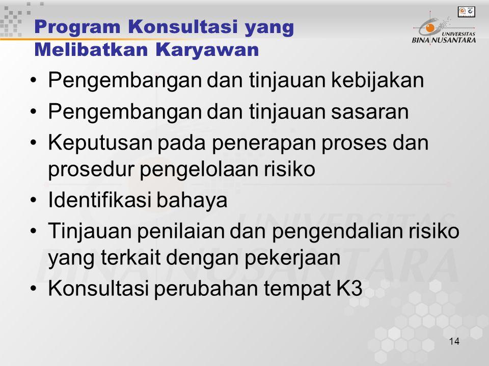 Program Konsultasi yang Melibatkan Karyawan
